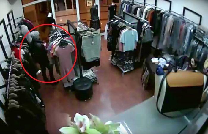 видеозапись кражи